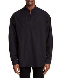 Juun.J Mandarin Collar Shirt - Black