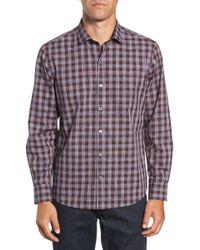 Zachary Prell Luca Regular Fit Check Sport Shirt - Purple