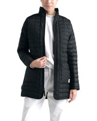 The North Face Thermoball Eco Long Quilted Jacket - Black