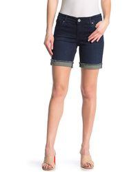 Kut From The Kloth Katy Denim Boyfriend Shorts - Blue