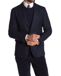 Brooks Brothers - Blue Brushed Two Button Notch Lapel Regent Fit Blazer - Lyst