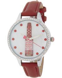 Betsey Johnson Women's Chili Pepper Watch, 38mm - Metallic