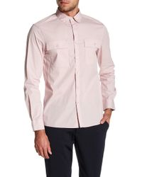 Kenneth Cole | Long Sleeve Stretch Tailored Fit Shirt | Lyst