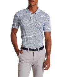 Perry Ellis - Striped Cotton Polo Shirt - Lyst
