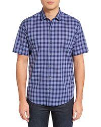 Zachary Prell Medina Slim Fit Plaid Sport Shirt - Blue