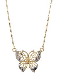 Liberty - 10k Gold Butterfly Necklace - Lyst