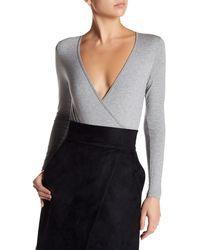 Six Crisp Days - V-neck Long Sleeve Bodysuit - Lyst
