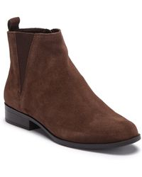 537a0fa5c87 Lyst - Franco Sarto Wayra Wedge Bootie - Wide Width Available in Brown