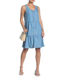 Beach Lunch Lounge - Sleeveless Button Down Babydoll Dress - Lyst