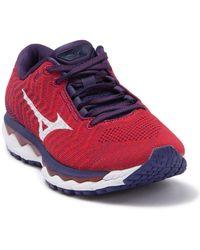 Mizuno Wave Sky 3 Waveknit Running Sneaker - Purple