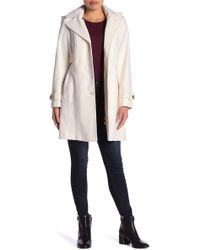 MICHAEL Michael Kors Wool Blend Belted Coat (petite) - White