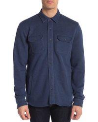 Tailor Vintage Fleece Lined Shirt Jacket - Blue