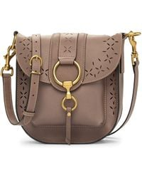 Frye - Ilana Harness Perforated Leather Saddle Bag - Lyst