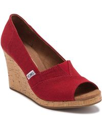 TOMS - Classic Wedge Sandal - Lyst
