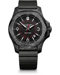 Victorinox I.n.o.x. Rubber Strap Watch - Black