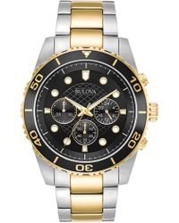 Bulova - Men's Two-tone Quartz Bracelet Watch, 43mm - Lyst
