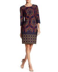 Chetta B - Print Sheath Dress - Lyst