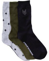 Steve Madden - Military Crew Socks - Pack Of 3 - Lyst