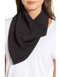 Halogen - Solid Pleated Scarf - Lyst