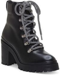 Rebecca Minkoff Maihlo Lace-up Combat Boot - Black