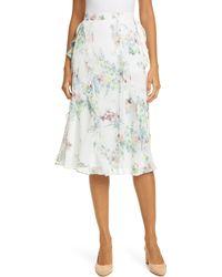 Ted Baker Lurissa Pergola Floral Ruffle Skirt - White
