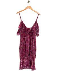 Lucy Paris Isla Velvet Dress - Multicolor