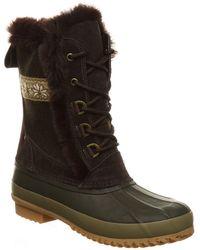 BEARPAW Tess Waterproof Faux Fur Boot - Brown
