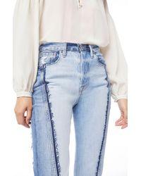 FRAME Le Mix Repair Jeans - Blue