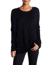 Dreamers By Debut - Beaded Relaxed Crew Neck Sweater - Lyst