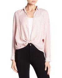 Love, Fire - Tie Front Stripe Shirt - Lyst
