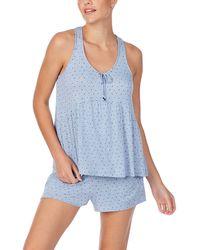 Room Service Racerback Tank Pajamas - Blue