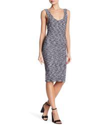 Bebe Bodycon Textured Scoop Back Dress - Multicolour