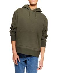 5f1a5270 TOPMAN Classic Fit Sound Waves Hoodie in Black for Men - Lyst