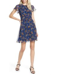 Sam Edelman Paisley A-line Dress - Blue