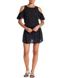 Minnie Rose - Ruffalo Linen-blend Knit Dress - Lyst