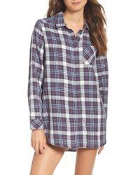Make + Model - Plaid Night Shirt - Lyst