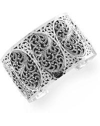 Lois Hill - Sterling Silver Filigree Cuff Bracelet - Lyst