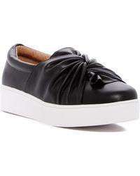 Catherine Malandrino Drapie Twist Slip-on Platform Sneaker - Black