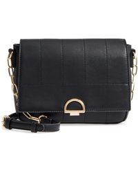 Sole Society Colie Faux Leather Crossbody Bag - Black