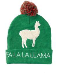 Bioworld Fa La La Llama Pompom Beanie - Green