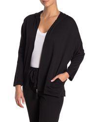 N Natori Zip Up Hooded Jacket - Black