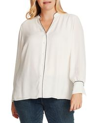 Vince Camuto Piped Button-up Shirt - White