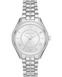 MICHAEL Michael Kors Women's Lauren Crystal Bracelet Watch, 38mm - Metallic