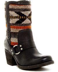 Born Panarea Geo Woven Harness Boot - Black
