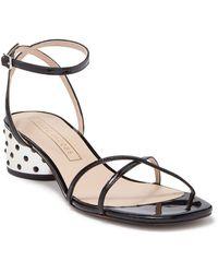 Marc Jacobs Sybil Crystal Embellished Block Heel Sandal - Black
