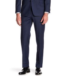 "Tommy Hilfiger Tyler Modern Fit Th Flex Performance Sharkskin Suit Separate Pant - 30-34"" Inseam - Blue"