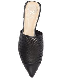 Vince Camuto Chareese Pointed Toe Leather Mule - Black