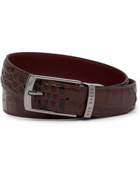Ted Baker - Textured Leather Belt - Lyst