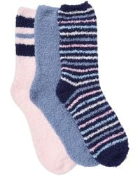 Jessica Simpson Cozy Crew Socks - Pack Of 3 - Pink
