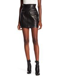 FRAME - Moto Mini Leather Skirt - Lyst